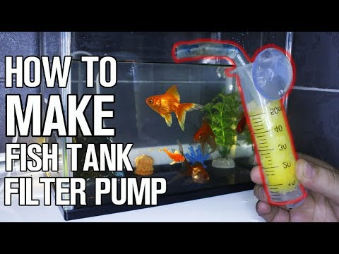how to make fish tank filter pump for aquarium at home youtube. Black Bedroom Furniture Sets. Home Design Ideas