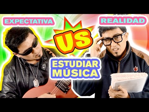 EXPECTATIVA vs REALIDAD Estudiar Música SKETCH Videos divertidos de músicos