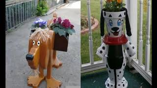 Веселое украшение для дачи - Кашпо Собака!