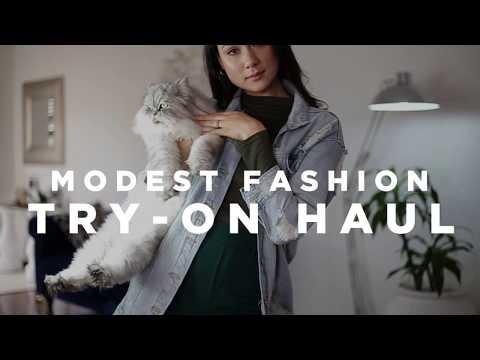 Modest Fashion Try-On Haul! - Bershka, Levi's, Cotton On, H&M, MRP