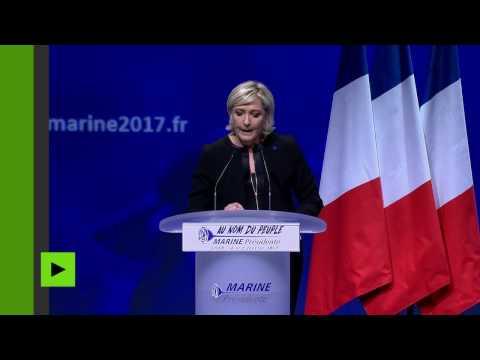 Les sept points forts du discours de campagne de Marine Le Pen à Lyon