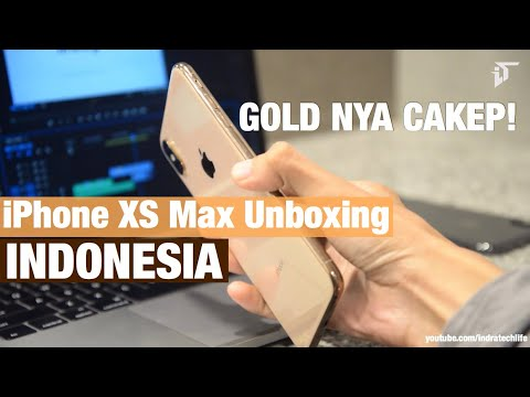 Review & Unboxing iPhone XS Max Gold & Grey - Indonesia by iTechlife