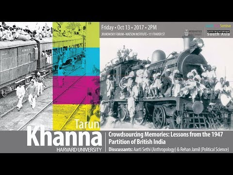 Crowdsourcing memories: Lessons from the 1947 Partition of British India