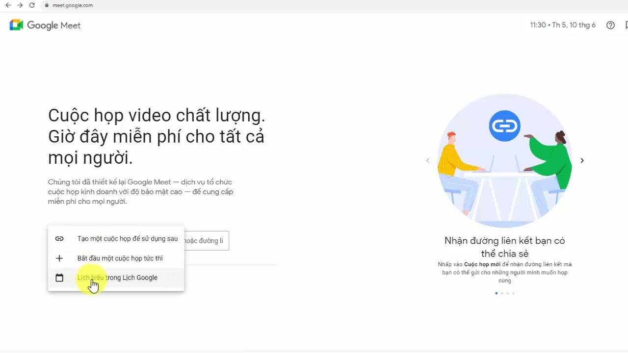 Làm sao lựa chọn tạo phòng họp Google Meet phù hợp nhất?