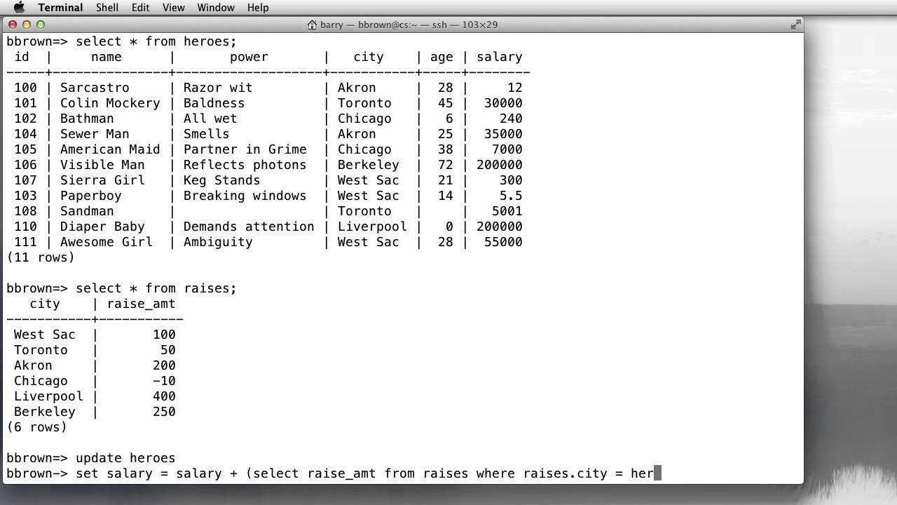 how to create subquery in sql