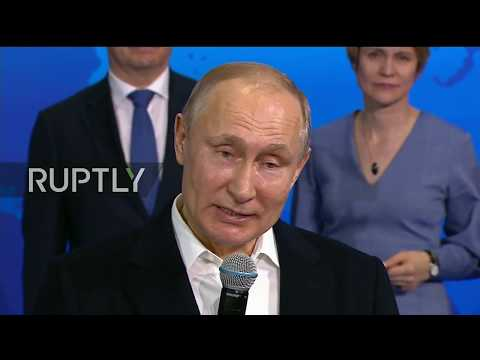 LIVE: Putin speaks from election headquarters after results are announced