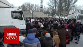 Life in Ukraine as fighting escalates - BBC News