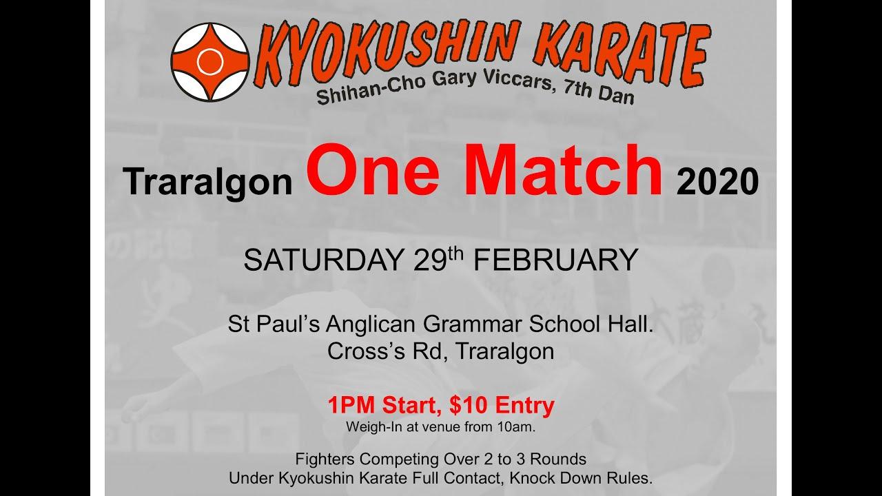 Traralgon Budokan 2020 One Match Live Stream