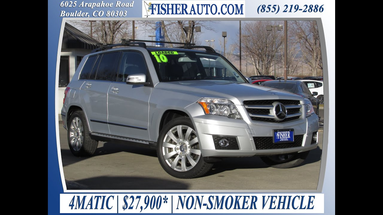2010 mercedes benz glk350 silver 27 900 longmont for Mercedes benz boulder