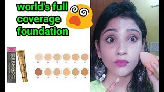 world's most full coverage foundation || dermacol foundation review (hindi)