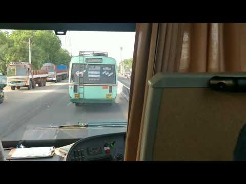 Vivegam volvo b9r traversing through Tuticorin city