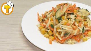 Очень простой и вкусный салат из свежей капусты. Пошаговый рецепт.