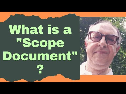 "What is a ""Scope Document"" in Technical Writing?"
