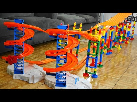 Spiral Ramp Car Race Tournament