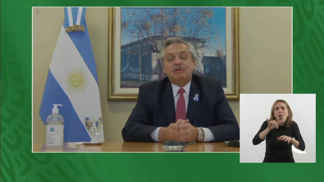 COVID 19 - El presidente mantuvo un diálogo de manera virtual con su par mexicano, AMLO