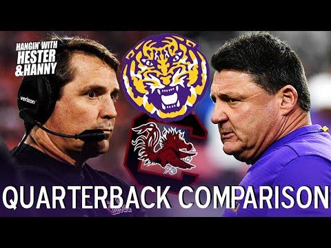 Which LSU QB has the upper hand vs South Carolina?