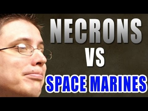 MWG Space Marines vs Necrons Warhammer 40k Battle Report - B