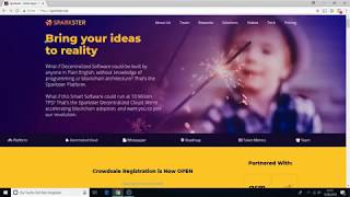 Sparkster ICO Review and Walktrough Part 1