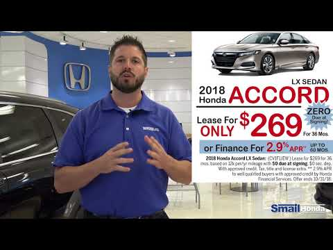 $0 Due at Signing on a 2018 Honda Accord Lease - September 2018