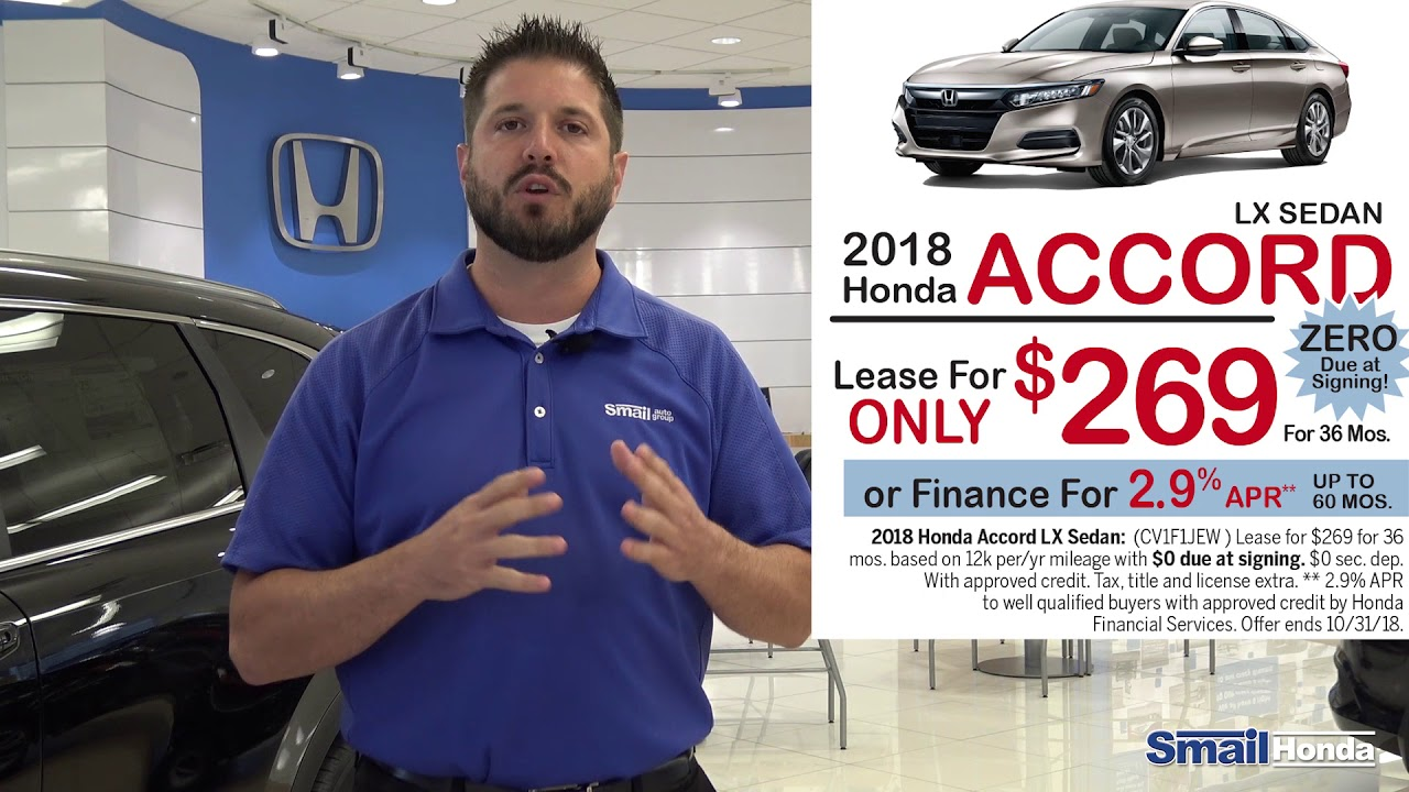 0 due at signing on a 2018 honda accord lease september 2018 youtube. Black Bedroom Furniture Sets. Home Design Ideas