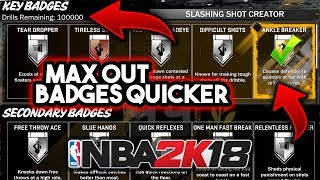 HOW TO GET MORE BADGE DRILLS IN NBA 2K18 ( MAX OUT BADGES QUICKER )🙏🙏