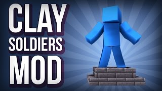 Minecraft: CLAY SOLDIERS MOD (Clay GECKOS, Clay Weapons, Clay Bunnies and More!) Mod Showcase