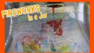 Easy Kids Science Experiment Fireworks in a Jar