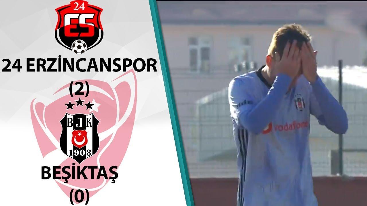 24 Erzincanspor 2 - 0 Beşiktaş MAÇ ÖZETİ (Ziraat Türkiye Kupası 5. Tur Rövanş Maçı)