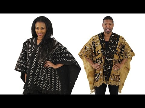 MudCloth Poncho | Africa Imports |