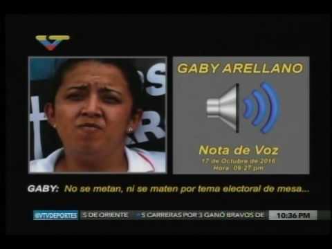 Mensaje de voz Gaby Arellano: Agitación en los centros de recolección de firmas el 26-28 octubre