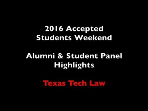 Alumni Panel - Accepted Students Weekend 2016