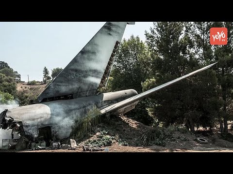 కూలిన శిక్షణ విమానం | Air Force Trainer Jet Crashes Near Hyderabad  | YOYO TV Channel