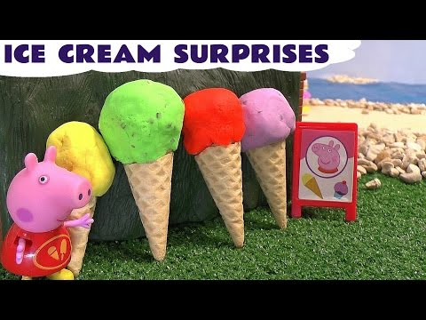 Peppa Pig Play Doh Ice Cream Surprise Eggs Thomas And Friends Disney Sofia The First Frozen Toys