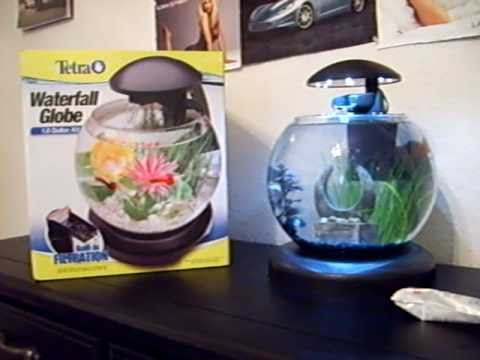 Tetra Waterfall Globe Aquarium Quick Overview And Filter Cartridge Replacement Youtube