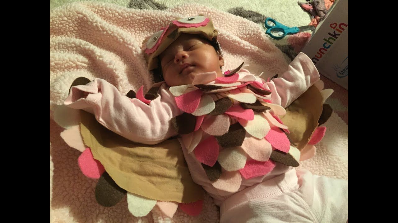 Diy last minute baby owl halloween costume youtube solutioingenieria Image collections