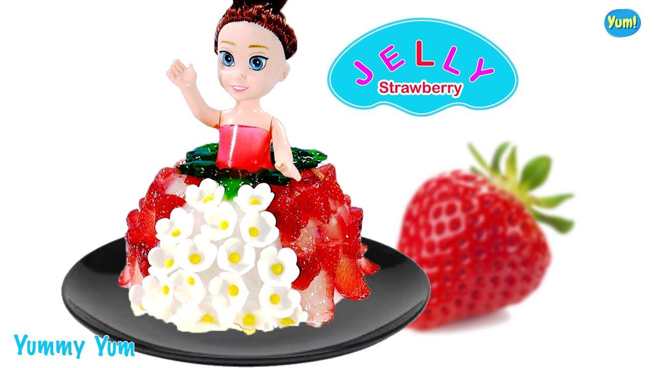 ๋How to make cute Jelly strawberry Princess's dress * Yummy Yum.
