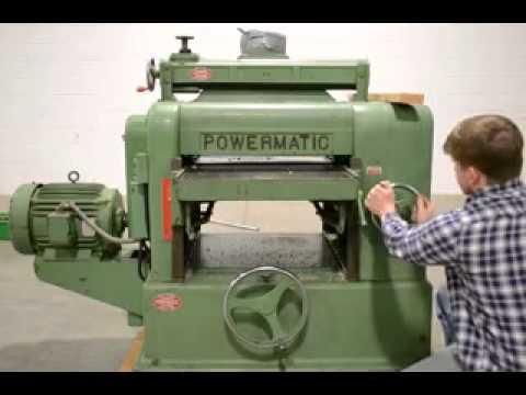 Powermatic Heavy Duty Model 225 24 Wood Planer 15hp Youtube