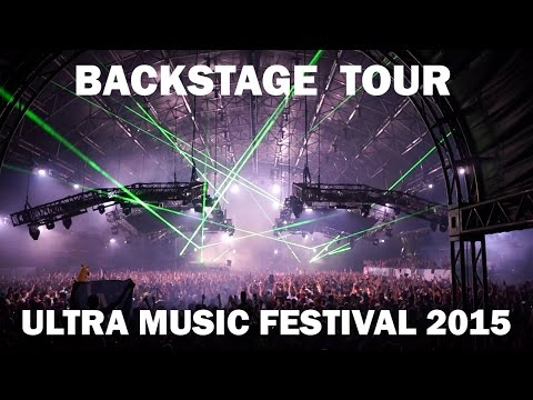 Backstage Tour @ Ultra Music Festival Miami deutsch