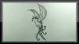 bird flying pencil easy drawing shading
