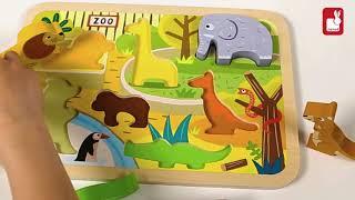 J07022 Układanka drewniana 3D Zoo