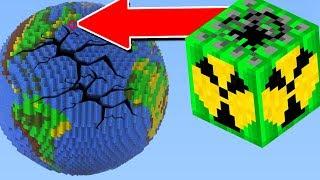 TERRA VS. BOMBA GLOBAL NUCLEAR! MUNDO SOBREVIVE A EXPLOSÃO?! (MINECRAFT)