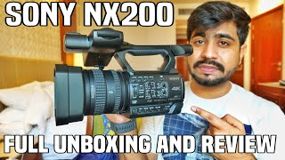 Sony HXR NX200 New Full Hindi Review | Must Watch