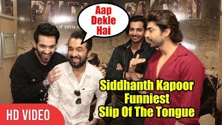 Aap Dekle Hai... 😂😂😂 Siddhanth Kapoor Funniest Slip Of The Tongue | Paltan Team Interview