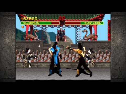 Mortal Kombat (1992): Arcade Ladder Playthrough with Scorpion
