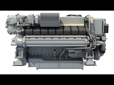 Diesel Marine 3D Engine for Yachts Vessels Ships