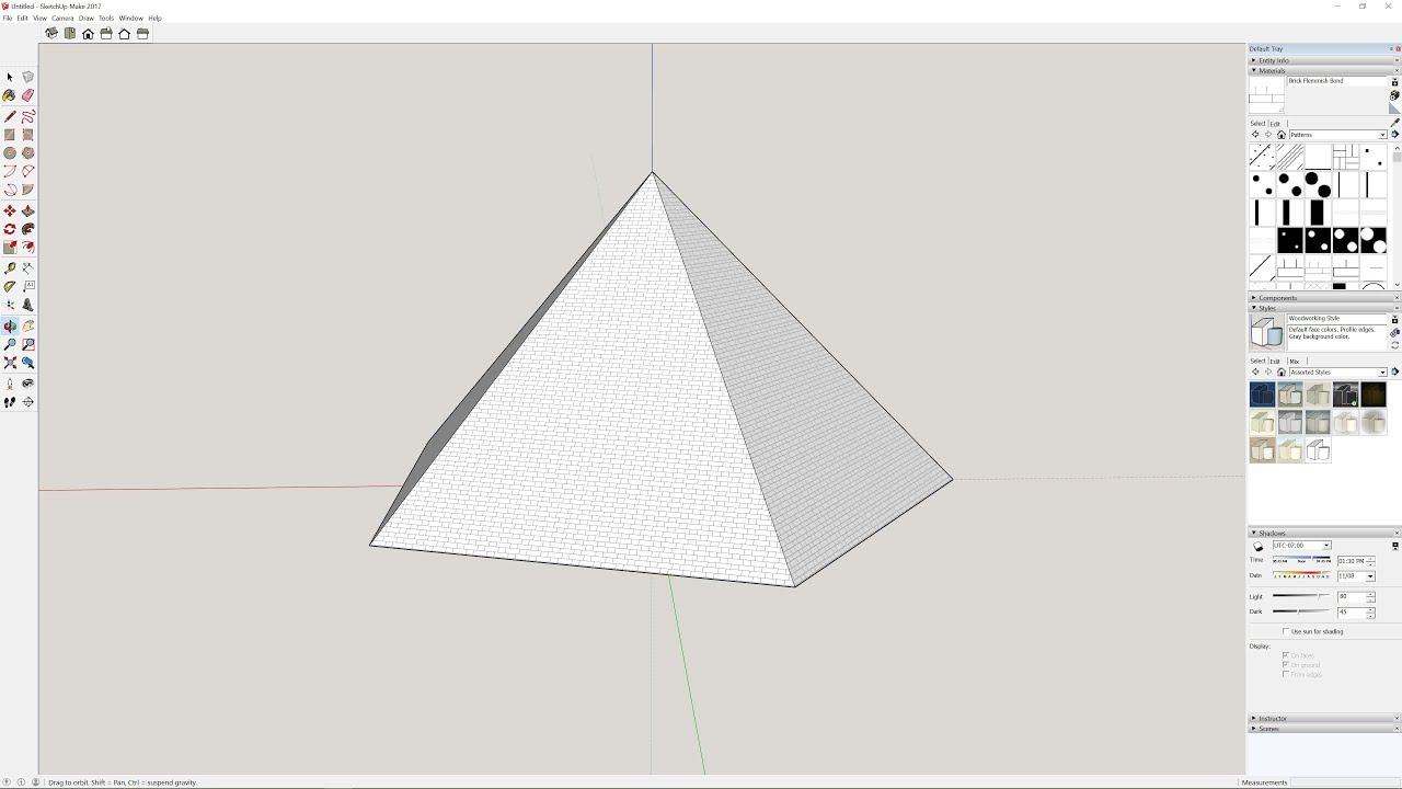 Sketchup Tutorials: How To Create a Pentagonal Pyramid