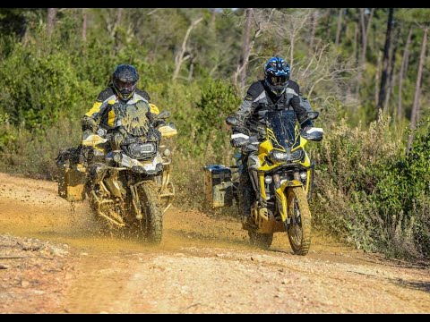 (english version) BMW R1250GS HP and Honda CRF 1000 L Africa Twin: Offroad-Action in Tuscany