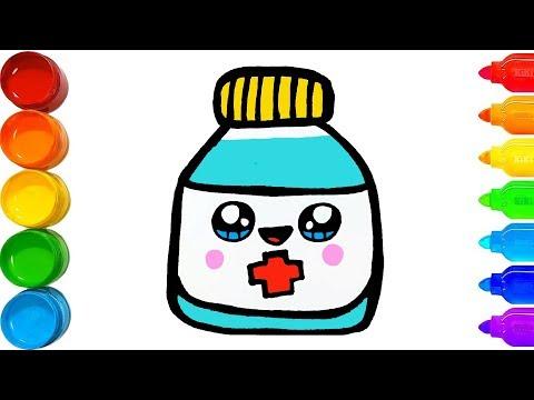 Cara Menggambar Botol Obat L Menggambar Dan Mewarnai Youtube