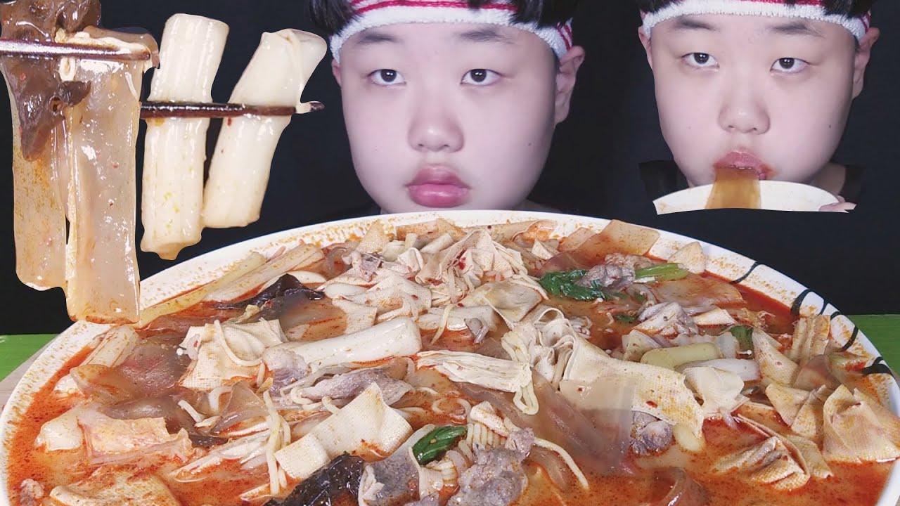 [마라탕 먹방] 마라탕 첫경험해봤습니다. (중국당면,분모자,소고기,추가)ASMR 먹방