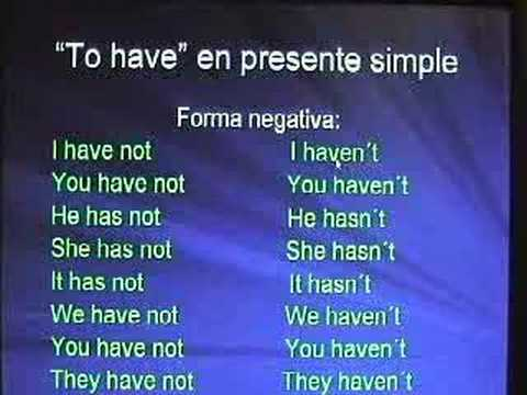 Formación Del Presente Simple En Inglés Youtube